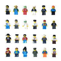 12pcs People Series Occupation Building Blocks character Bricks DIY Toys for Children Boys Kids Christmas Gift Compatible jm3