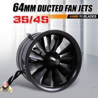 FMS 64 мм 11 лопастей воздуховод вентилятора EDF блок с 2840 KV3150 (4S)/KV3900 (3 S) Мотор (опционально) для Модель самолёта на радиоуправлении самолета част...