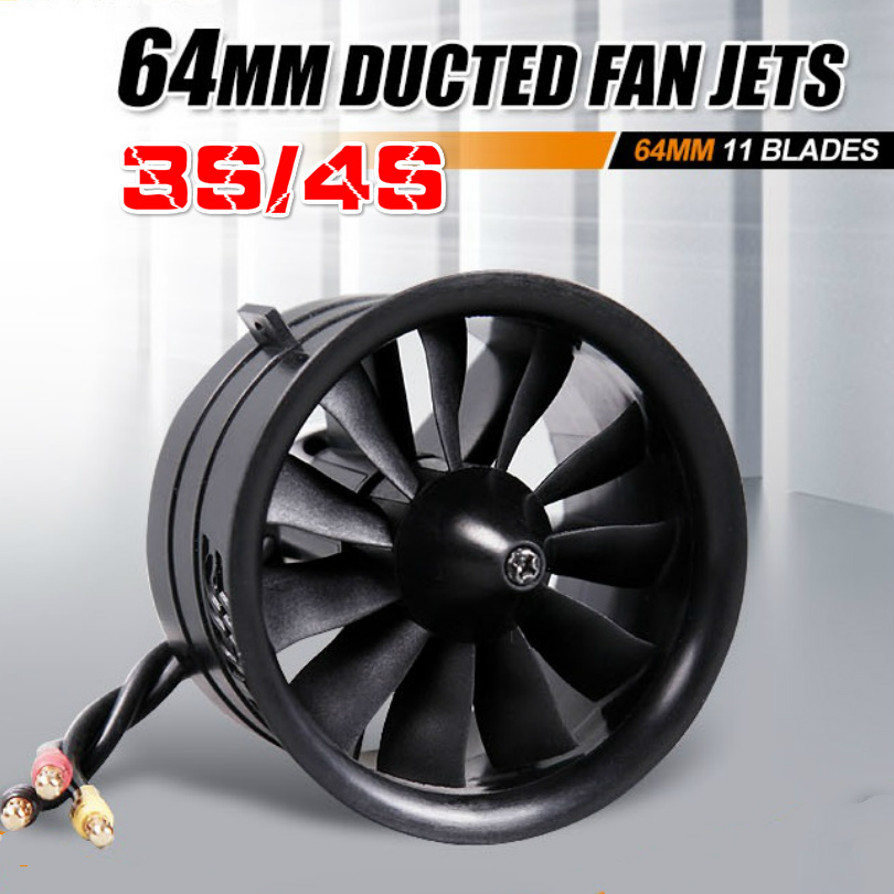 FMS 64mm Ducted Fan EDF Jet 11 Blades With 2840 KV3150 (4S) / KV3900 (3S) Motor Engine RC Airplane Model Plane Power System image