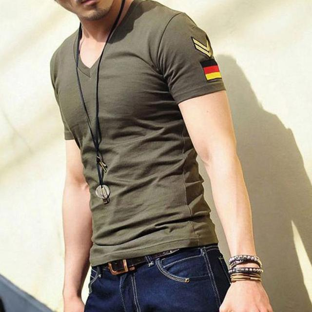 2017 Fashion Summer Cotton Military T Shirt Germany's Armband