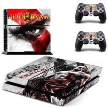 New Vinyl Decal God of War for Sony PlayStation 4 Console and 2 Controllers Skin