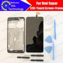 UMI سوبر شاشة الكريستال السائل محول الأرقام بشاشة تعمل بلمس الأوسط الإطار الجمعية 100% الأصلي جديد LCD تعمل باللمس محول الأرقام ل سوبر F 550028X2N