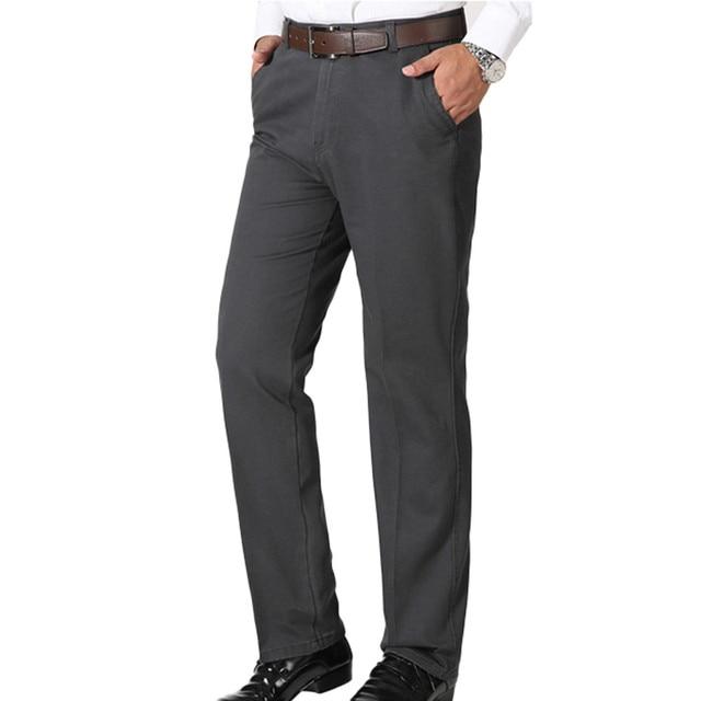 Fashion Business Men's Solid Casual Suit Pants Straight Slim Office Man Cotton Long Pants Male Formal Trousers Pantalones Aug23