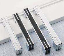 цена на 32 96 128 160 224mm Cabinet Door Handles Pulls Black White Silver Dresser Pulls Drawer Pull Knobs Handles Kitchen Handle Modern