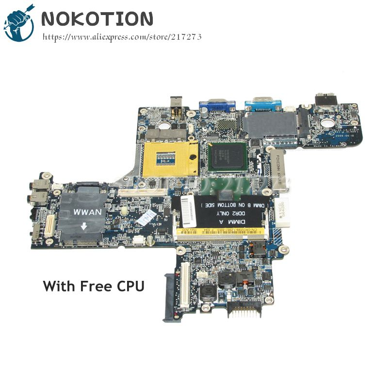 NOKOTION For Dell Latitude D620 Laptop Motherboard 945GM DDR2 Free CPU CN-0XD299 0XD299 HAL00 LA-2791P gu059 0gu059 cn 0gu059 laptop motherboard for del xps m1210 intel ddr2 945gm la 3001p hal30 mainboard