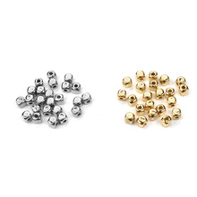 200pcs/lot  Fashion CCB Gold Silver Color Square Shaped Spacers Loose Beads Accessories Fit DIY Bracelet