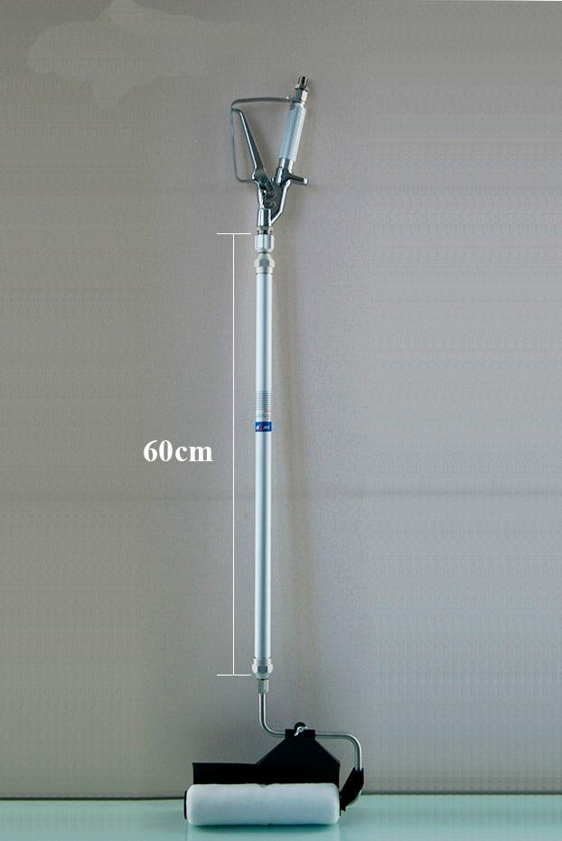 Rodillo de pintura sin aire profesional con poste de extensión de 60 cm rodillo de pintura sin aire