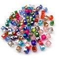Alta calidad 200 unids mix perlas AAA forma Cuadrada de cristal Austriaco de Lujo perlas 2 MM 3mm 4mm 6mm 8 suelta cuadrado suministro de vidrio H464