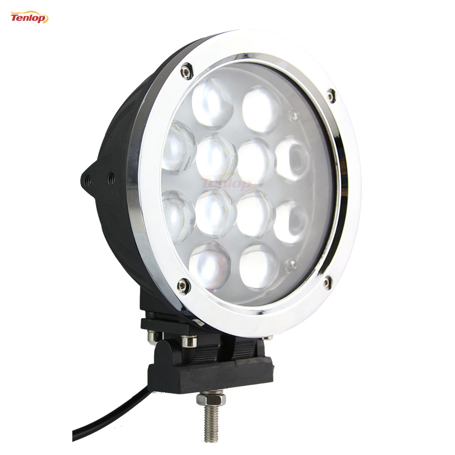 Hot 7 Inch Round 60W 3000LM LED Tunning Light Silver For Offroad Truck 4*4 SUV ATV Car 12V 24V light sourcing 22 inch 100w headlight for offroad 4 4 atv suv 12v 24v