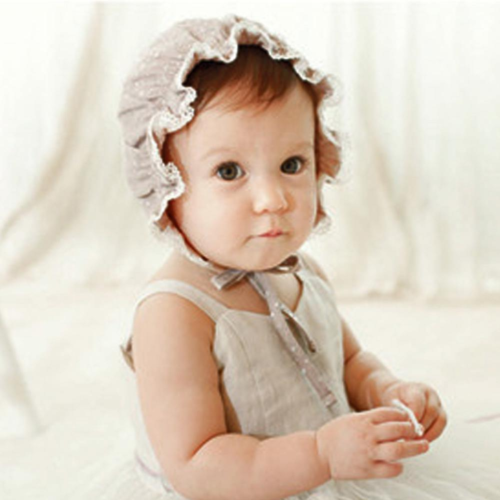 Baby Hats Lovely Solid Color Little Girls Princess Soft Hat Cap Beanies Cotton The Palace Cap Baby Newborn Sun Hats
