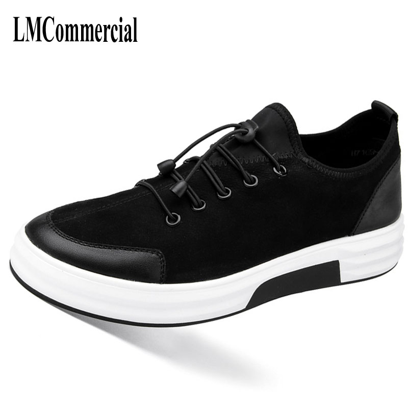 Black men shoes boots autumn winter 2017 new Korean all-match matte leather casual men shoes British breathable sneaker boots new 2017 men s genuine leather casual shoes korean fashion style breathable male shoes men spring autumn slip on low top loafers