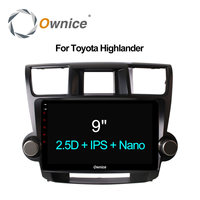 Ownice C500 9 Car Radio GPS DVD Navi for Toyota HIGHLANDER 2009 2013 2014 2015 Universal 2DIN Android 6.0 8 core 4G LTE 32GB