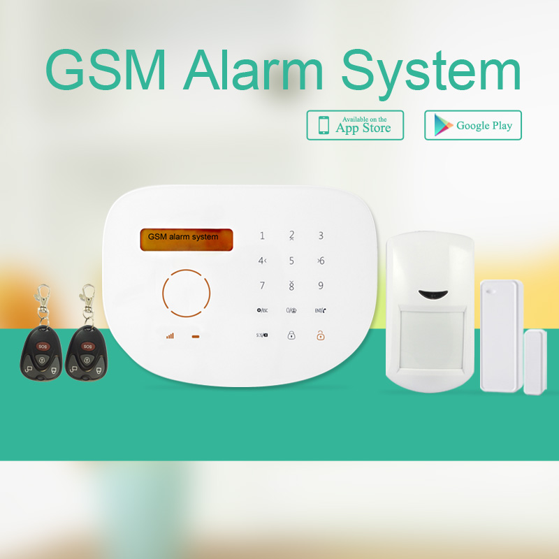 Remote APP control smart home alarm system wireless GSM home security alarm system smart home system android support smart ios android apps home security gsm alarm system remote control by sms auto calling multi language alarm system