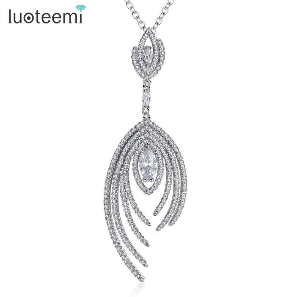 Luoteemi 2017 neue luxus frau halskette glänzende kleine kubikzircon große blume anhänger choker hochzeit schmuck weihnachtsgeschenk