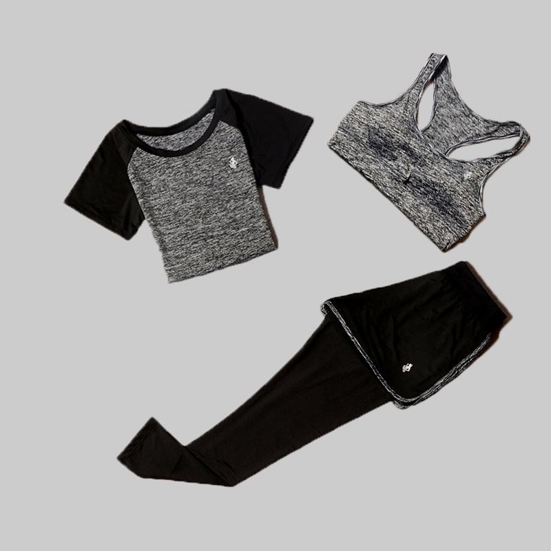 3 PCS Sportswear Set Yoga Fitness Clothes Women 39 s Suit For Female Training Sportswear Sets Athletic Running Yoga Suit in Yoga Sets from Sports amp Entertainment