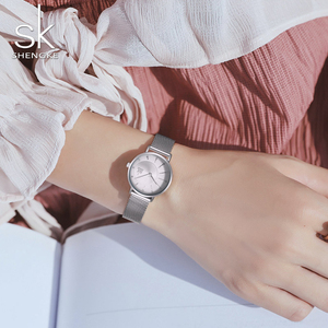 Image 3 - Shengke Watch Women Casual Fashion Quartz Wristwatches Crystal Design Ladies Gift Relogio Feminino Mesh Band Zegarek Damski 2020