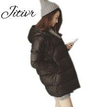 Jitivr 2016 Hot Sale Women's Faddish Winter Thick Warm Warm Hooded Jacket Stylish Female Girls' Student Plus Size Newest Coat