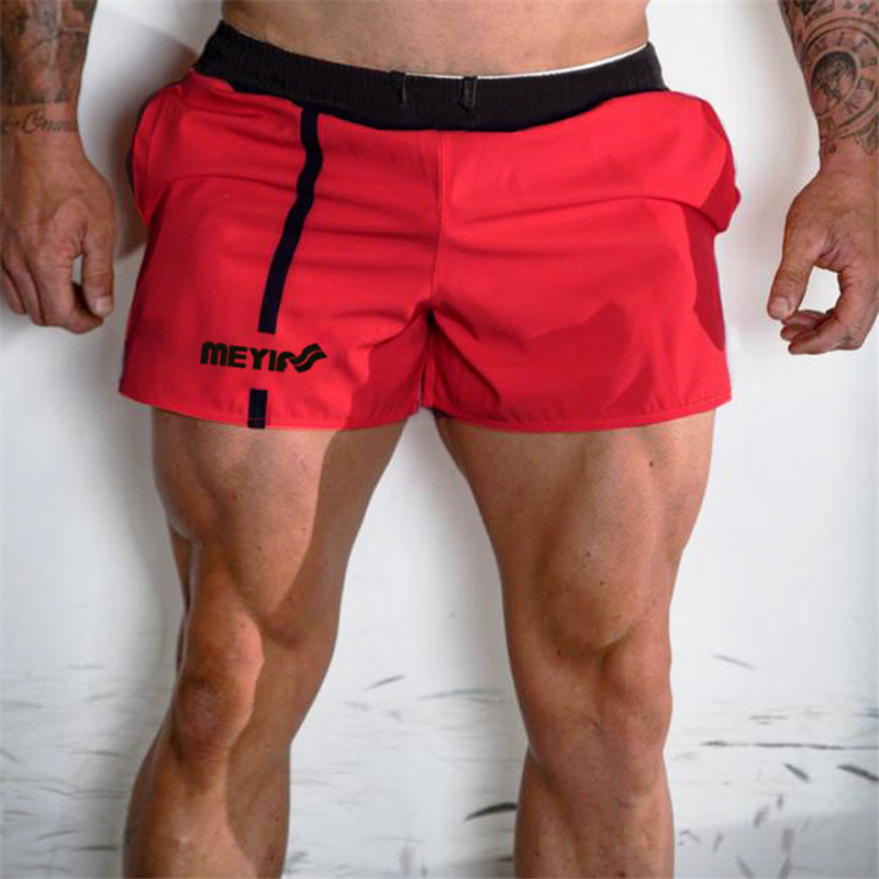 2019 Summer mens shorts Jogger Fitness fashion Casual gyms Joggers workout Bodybuilding Breathable quick drying Beach shorts in Casual Shorts from Men 39 s Clothing