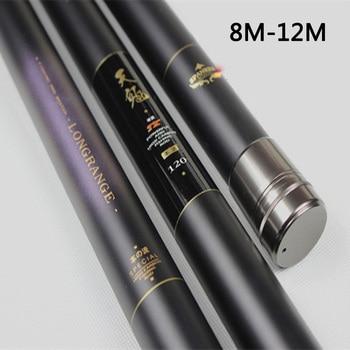 Telescopic Carbon Fiber Carp Fishing Rod 8M 9M 10M 11M 12M Ultra Long Hard Hand rod Stream pole Feeder Winter Fishing Olta FG40