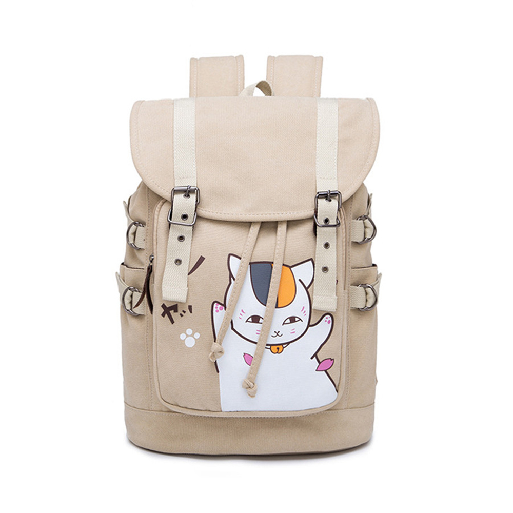 Japanese Anime Natsume Canvas Backpack Teenage Boys Girls Schoolbag Anime Daypack Cute Cartoon Totoro Bookbag сумка bottega veneta bv 354216 v0016