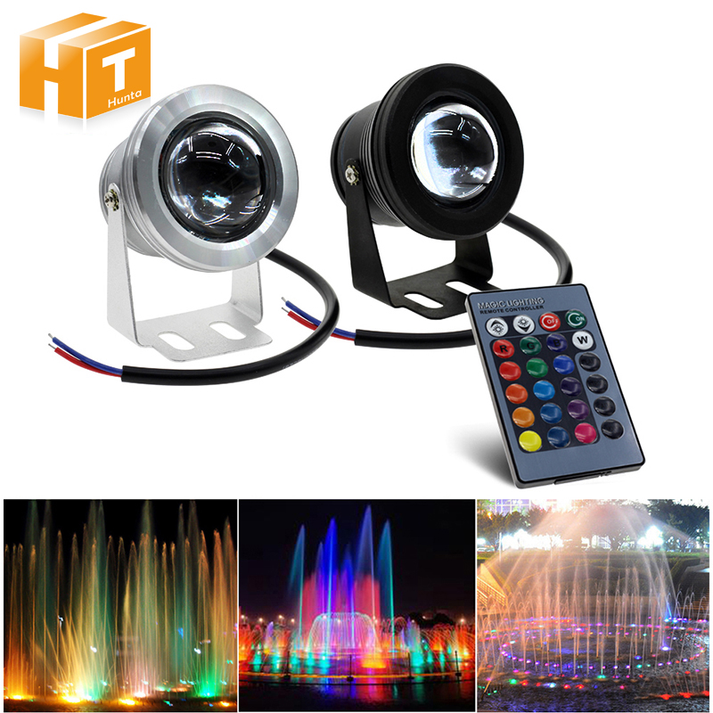 RGB LED Underwater Light 12V 10W IP67 Waterproof Swimming Pool Pond Fish Tank Aquarium Outdoor Lighting