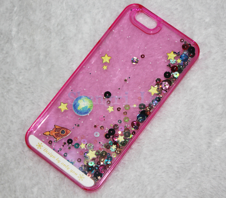 new product ad356 28477 US $143.12 |3D Cartoon Starry Sky Space Ship Glitter Star Flowing Water  Liquid Case For iPhone 5 5G 5S 6 6 Plus 100pcs/lot free shipping on ...