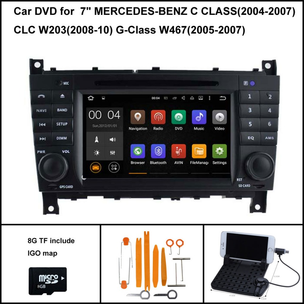 Android 7 1 Quad Core font b CAR b font DVD Player for MERCEDES BENZ C