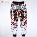 Sportlover пары брюки женщины / мужская смешные 3d бегун штаны игральные карты в форме сердца к / Q покер лицо бандану бегунов штаны