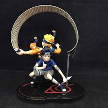 WVW 2pcs/Set Hot Sale Anime Heroes Naruto Uzumaki Naruto Sasuke Model PVC Toy Action Figure Decoration For Collection Gift