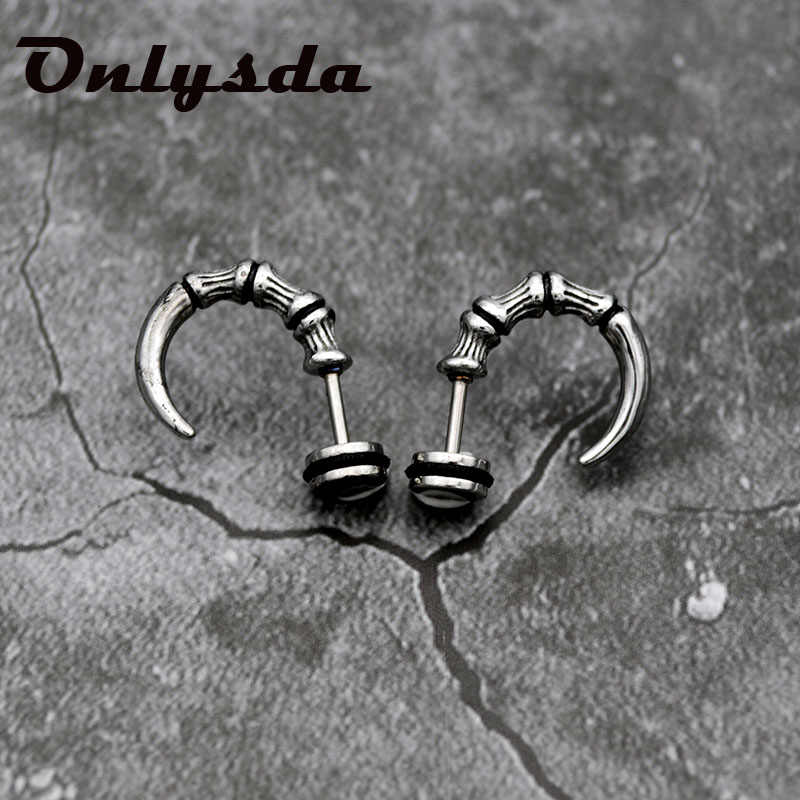 Fashion Unisex Stainless Steel Anting-Anting Anting-Anting Stainless Steel Telinga Stud Square Hawk Eagle Claw Stud Anting-Anting ES076