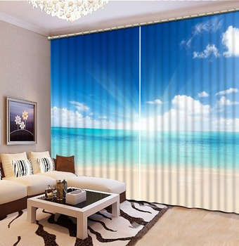 sunshine curtains Photo Painted 3D Curtain Living room 3d Curtains Blackout for Living Room Kids Bedroom Fabric