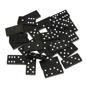 1 Juego de 28 Uds. De caja de madera clásica de viaje, juego de dominó, tablero tradicional para niños, juguete educativo, regalo de Navidad, juego de dominó Vintage