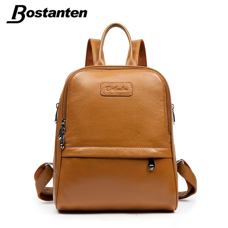 Aliexpress.com : Buy Bostanten Fashion Genuine Leather Backpack ...