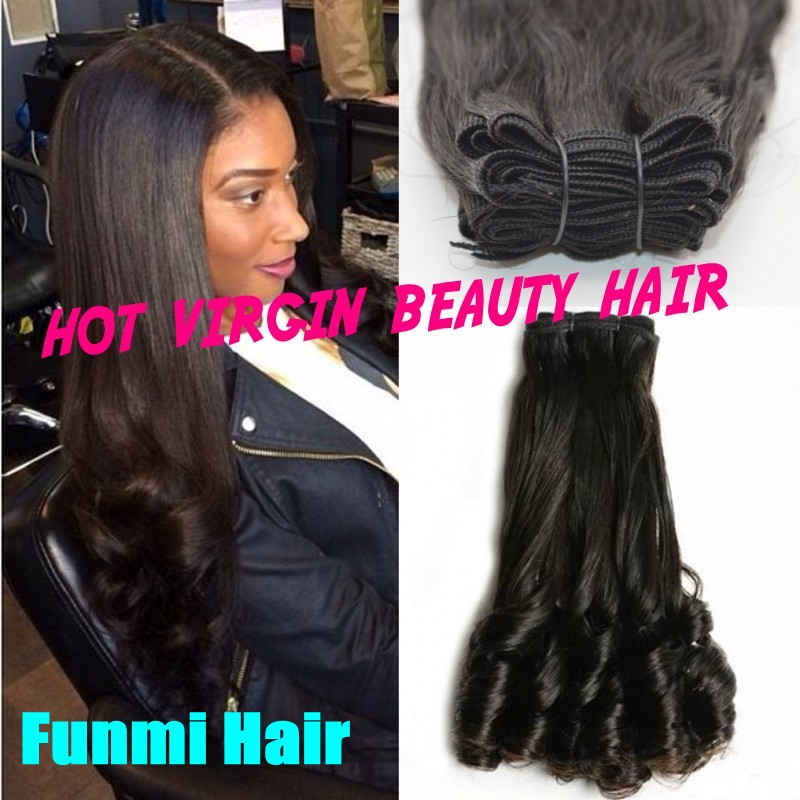 Top Quality Double Drawn 8a Aunty Funmi Hair Weave Romance Bouncy