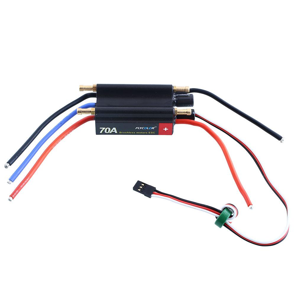 ФОТО FlyColor 70A Brushless Motors Speed Controller ESC 5.5V/4A For RC Boat Model