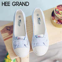 HEE GRAND 2018 New Women Casual Shoes Women Working Shoes Solid Loafers Comfortable Women Canvas Shoes Mujer Oxfords XWF630