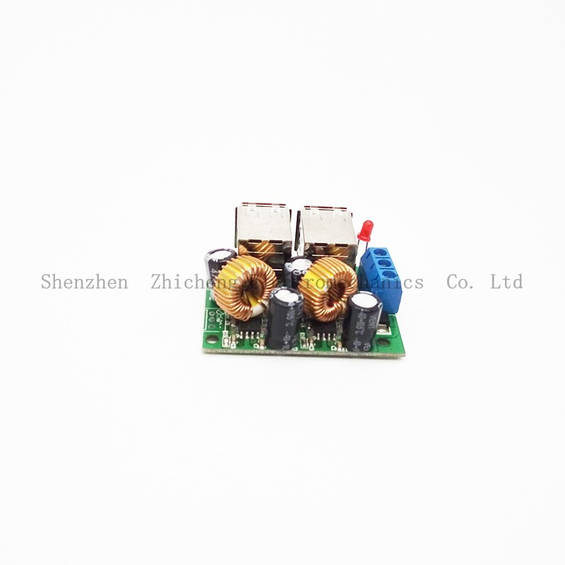 4 USB 12V To 5V 5A Power Supply Charging Module