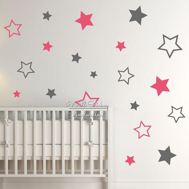 Kinderzimmer sterne  Online-Shop Baby Kinderzimmer Sterne Wandaufkleber Stern Wandtattoo ...