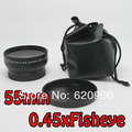100% GUARANTEE 55mm 0.45x Wide Angle + Macro Lens for Sony Alpha DSLR A99 A77 A65 A57 A37
