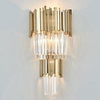 high quality crystal wall lamp modern gold sconce lights AC110V 220V lustre living room bedroom light fixtures