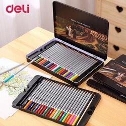 Deli profesjonalnego kolorowe kredki zestaw do rysowania 36/48/72 kolory malowanie szkic Tin Box szkół i szkół artystycznych artysta dostarcza kolor ołówek