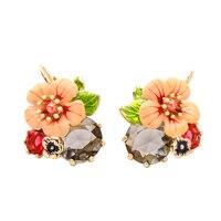 Euro American Fashion Accessories Manufacturer Direct Sale Colored Glaze Fashion Earrings Joker Woman