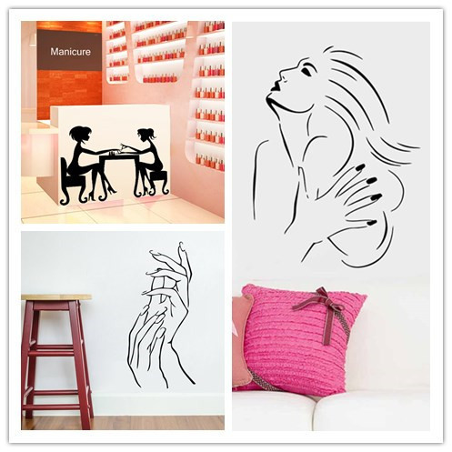 buy wall sticker nail bar shop hair beauty salon wall art decal diy home. Black Bedroom Furniture Sets. Home Design Ideas