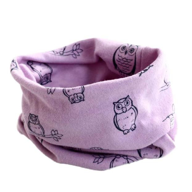 Kids' things Baby Clothing Autumn Winter scarf for children Boys Girls Owl Print Collar Baby Scarf Cotton O Ring Neck Scarves wb 01 fashion knitting wool collar scarf neck warmer pink