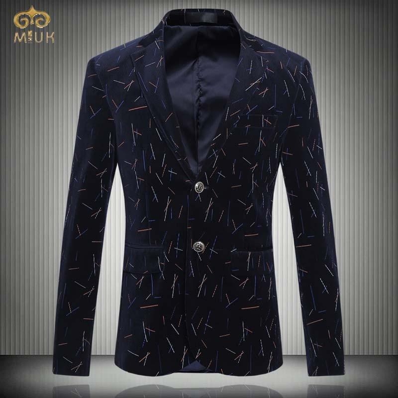 MIUK Super Large Size Print Suit Blazer Men Brand-clothing 6XL 5XL Brand-Clothing Men Blazer Slim Fit Blazer Masculino 2017 New