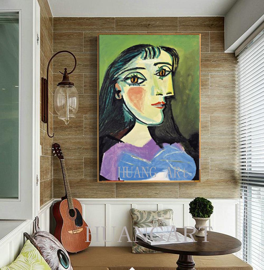Meeting room office hall KFC famous artist Picasso painting beautiful girl hat Spanish hand painted modern decoration of the clu in Painting Calligraphy from Home Garden