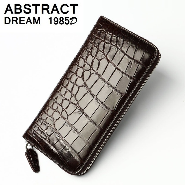 2019 new real leather 100% Alligator belly men business wallet skin Wallet Classic leather purse crocodile skin men's Clutch