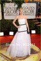 Custom Made Fashion A-line Floor-length Strapless White Evening 71 th Golden Globe Award Celebrity Dresses