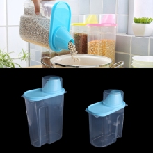 Plastic Pets Dog Cat Food Storage Container Dry Dispenser Puppy Feeder