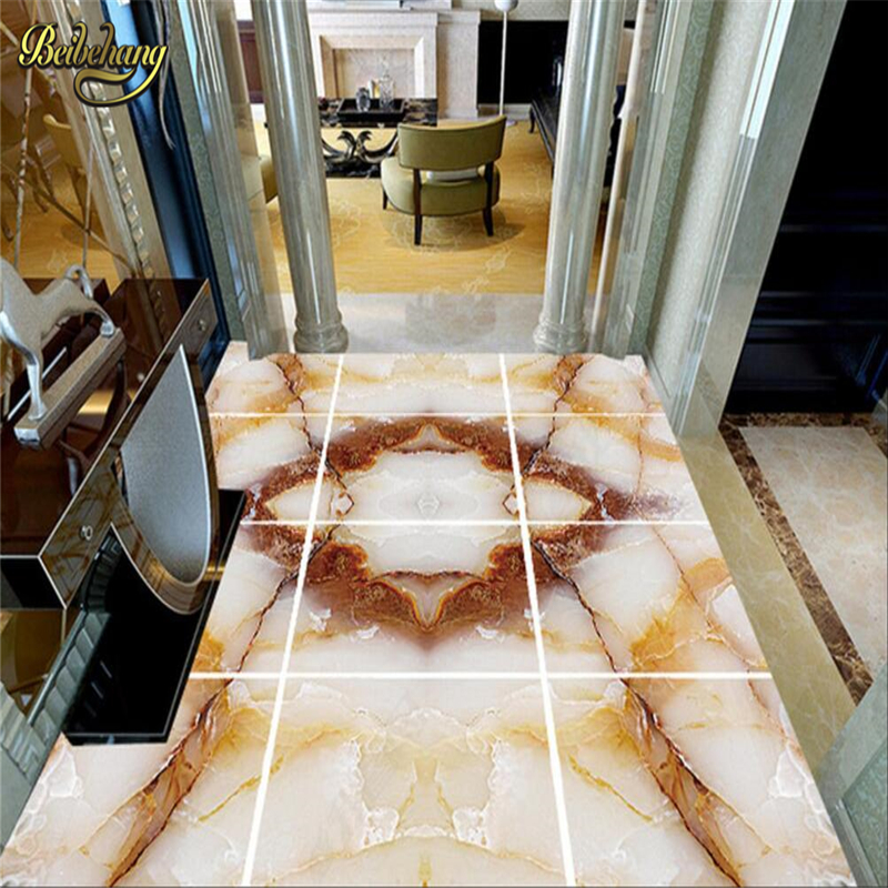 beibehang Custom Photo self-adhesive 3D floor Waterproof floor mural painting 3d floor wallpapers marble 3D PVC floor wallpaper